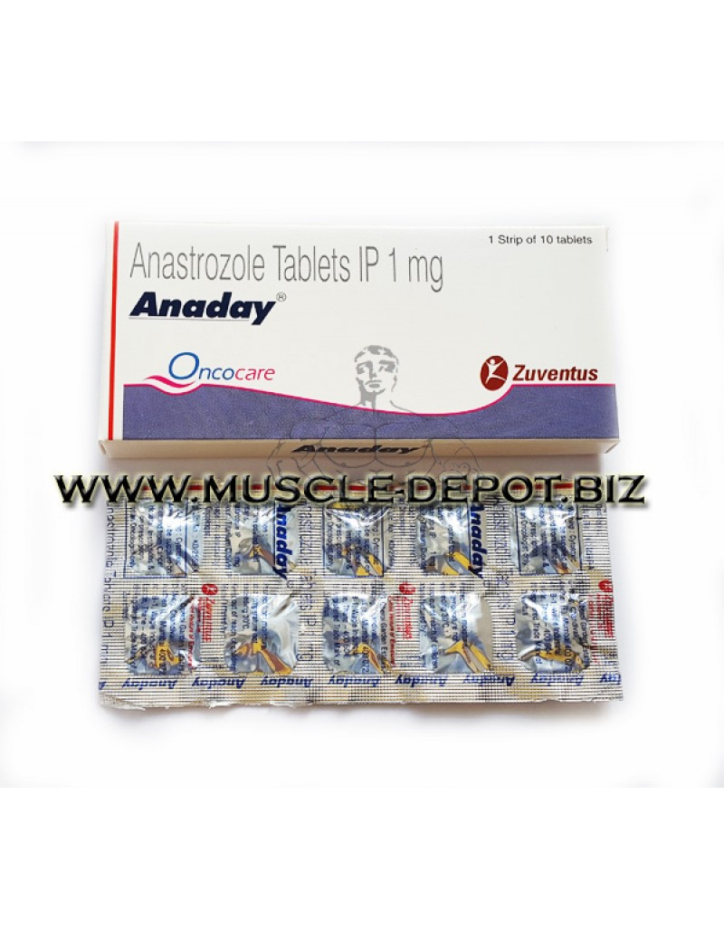 ARIMIDEX (ANADAY) Anastrozole 1mg, 10 tabs
