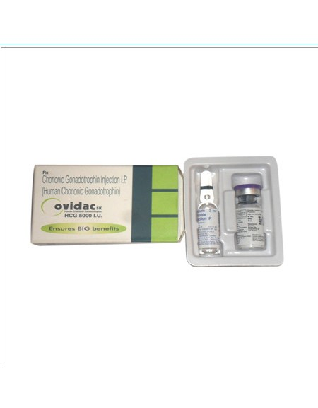 HCG - OVIDAC 5000iu/vial  (or ZyHCG 5000iu)